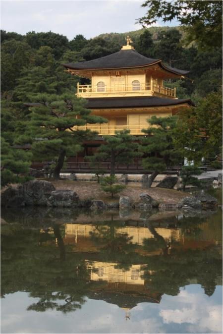 The Golden Pavilion reflected in the mirror pond
